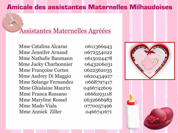 ASSISTANTE MATERNELLE AGREEE MILHAUD